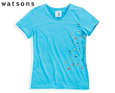 watsons t shirt surfprint. Black Bedroom Furniture Sets. Home Design Ideas