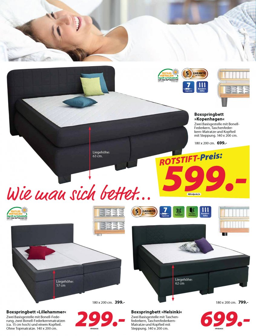 boxspringbett d nisches bettenlager. Black Bedroom Furniture Sets. Home Design Ideas